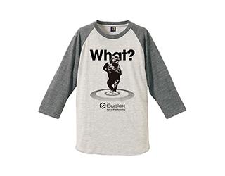 【復刻】What?ラグランTシャツ