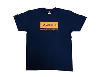 Athlete 綿Tシャツ(メトロブルー)