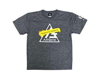 Athlete ブラシ ドライTシャツ(ヘザーチャコール)