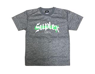 SUPLEX MMAロゴ ドライTシャツ(ヘザーチャコール)