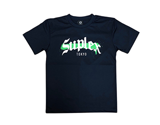SUPLEX MMAロゴ ドライTシャツ(ネイビー)