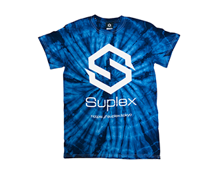 SUPLEX タイダイ 綿Tシャツ(スパイダーネイビー)