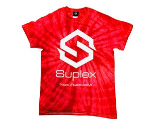 SUPLEX タイダイ 綿Tシャツ(スパイダーレッド)