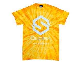 SUPLEX タイダイ 綿Tシャツ(スパイダーゴールド)