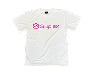 SUPLEXドライTシャツ(ホワイト×ピンク)